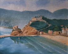 olio su tela 'Monterosso delle Cinque Terre' cm40x50