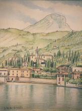 China e matite colorate 'villa di Gargnano'