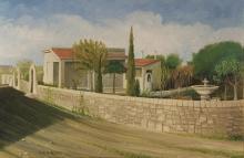 Olio su tela 'Paesaggio siciliano'