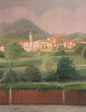 Olio su tela 'Collio Val trompia (Paesaggio bresciano)'