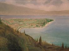 Olio su tela 'Maderno visto da Montemaderno'