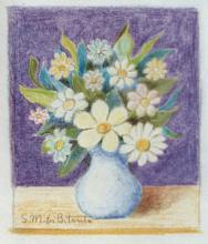Miniatura pastelli 'Fantasia di fiori'