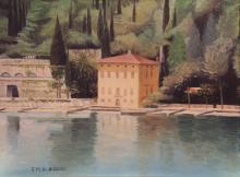 Olio su tela 'Presso Limone, Lago di Garda'
