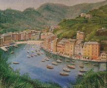 Olio su tela 'Portofino'