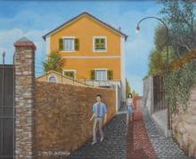 """Olio su tela """"periferia di Pieve Ligure"""""""