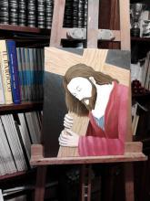 Olio su tela - Si profila il Volto di Cristo