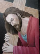Olio su tela - Il Volto di Cristo