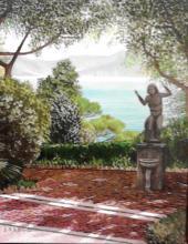 """Olio su tela """"Villa Luxoro di Genova Nervi"""""""