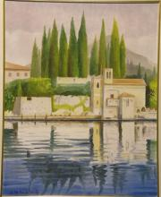 Olio su tela - Lago di Garda - Punta San Vigilio