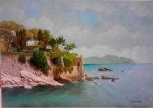 Olio su tela - Villa Luxoro (Nervi)