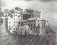 Olio su tela Genova - Boccadasse