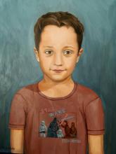 Olio su tela 'Emanuele Lupo' - nipote dell'artista