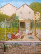 Olio su tela - Pentema di Torriglia - Pollaio