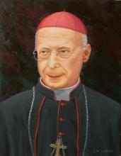 Ritratto di Sua Eminenza il Cardinale di Genova Angelo Bagnasco. Olio su tela.