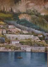 """Olio su tela """"San Faustino di Gargnano"""""""