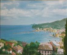 "Olio su tela ""Santa Margherita Ligure"""